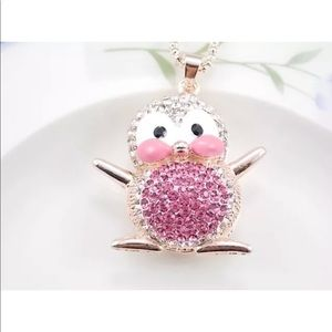 Cute Crystal Penguin 🐧 Necklace